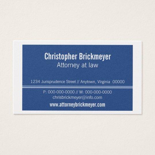 Executive Professional Business Card, Royal Blue Business Card