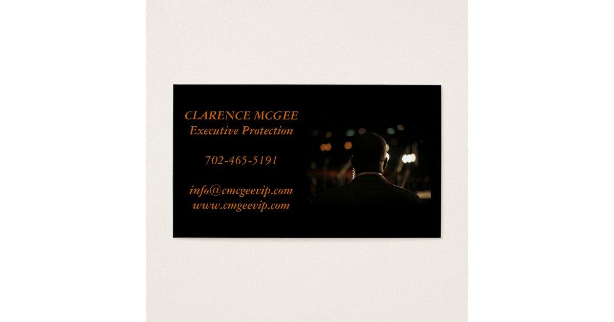 Executive Protection Business Card | Zazzle.com