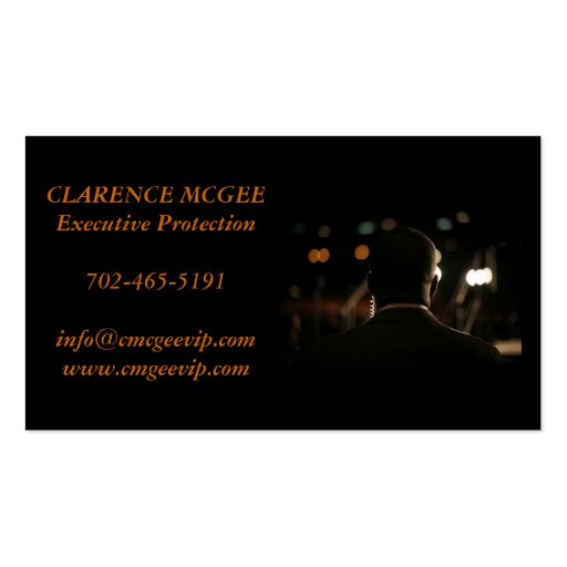Executive Protection Business Cards