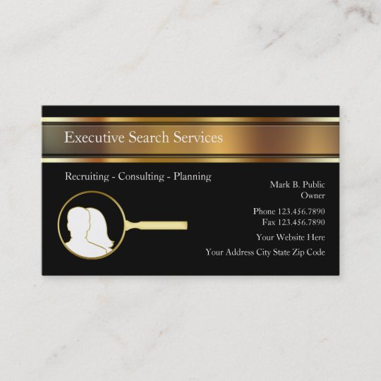 Executive search employment agency business cards zazzle executive search employment agency business cards colourmoves