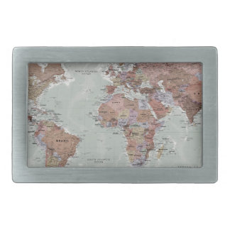 Executive World Map Belt Buckle