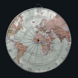 "Executive World Map Dartboard<br><div class=""desc"">With its antique-style muted tones,  it looks simply stunning and rather elegant.</div>"