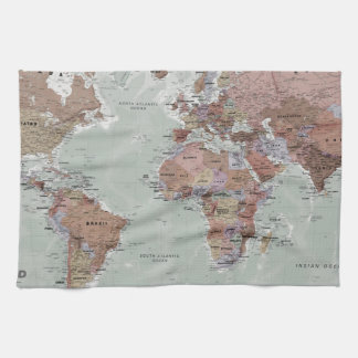 Executive World Map Kitchen Towel