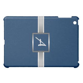 ExecutiveBlue - Silver Monogram iPad Case
