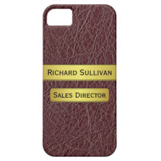 Executive's Gold Name Plate Effect iPhone 5 Case at Zazzle