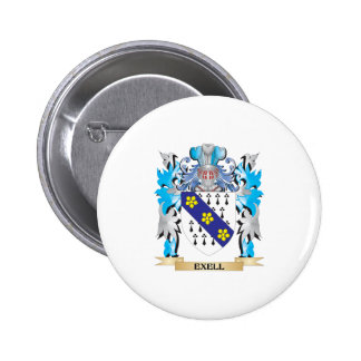 Exell Coat of Arms - Family Crest Buttons