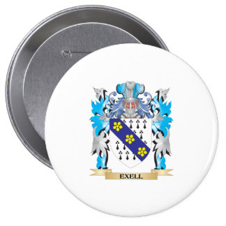 Exell Coat of Arms - Family Crest Pinback Button