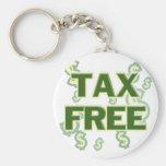 Exento de impuestos llaveros