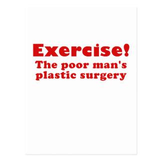 Exercise a Poor Mans Plastic Surgery Postcard
