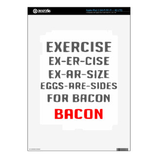 Exercise Bacon Decals For iPad 3