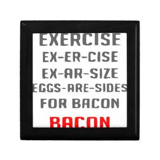 Exercise Bacon Gift Box