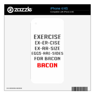 Exercise Bacon iPhone 4S Decal