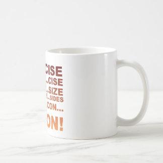 Exercise bacon coffee mug