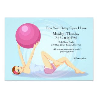 Exercise Ball Fitness Invitation