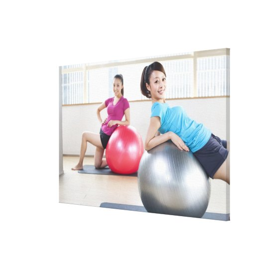 Exercise Balls Canvas Print