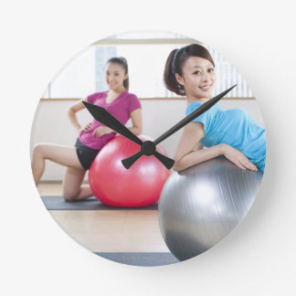 Exercise Balls Round Wallclocks