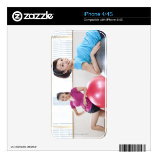 Exercise Balls Decal For iPhone 4