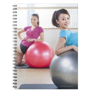 Exercise Balls Spiral Notebook