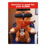 Exercise Bear Greeting Card