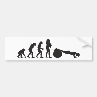 Exercise Bumper Sticker