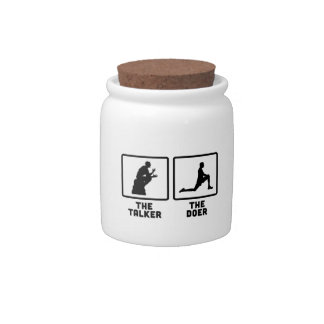 Exercise Candy Jar