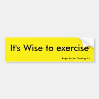 Exercise Car Bumper Sticker