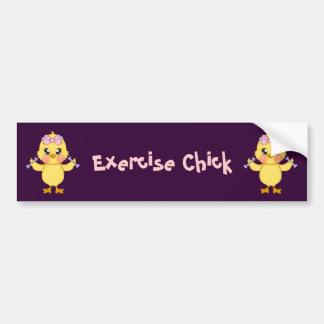 Exercise Chick (customizable) Car Bumper Sticker