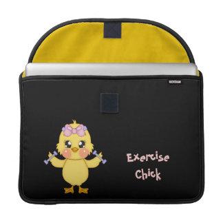 Exercise Chick (customizable) MacBook Pro Sleeve