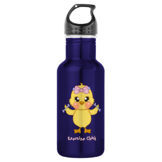 Exercise Chick (customizable) Stainless Steel Water Bottle