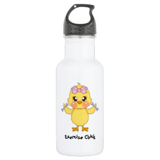 Exercise Chick (customizable) Water Bottle