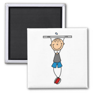 Exercise Chin Ups Tshirts and Gifts 2 Inch Square Magnet
