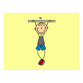 Exercise Chin Ups Tshirts and Gifts Postcard
