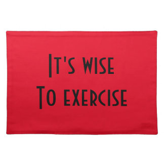 Exercise Cloth Placemat