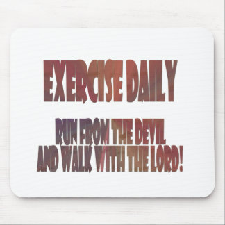 Exercise Daily II Mouse Pad