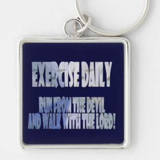 Exercise Daily Keychain