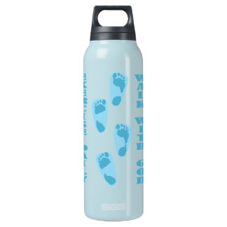 Exercise Daily - Walk with God (Matt 11:28-30) Insulated Water Bottle