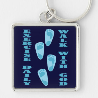 Exercise Daily - Walk with God (Matt 11:28-30) Keychain