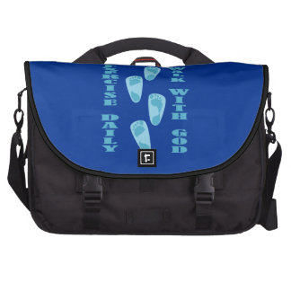 Exercise Daily - Walk with God (Matt 11:28-30) Commuter Bags