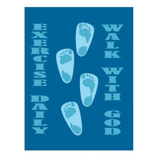 Exercise Daily - Walk with God (Matt 11:28-30) Postcard