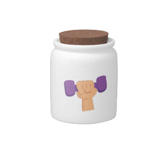 Exercise Dumbbell Candy Dish