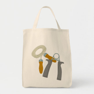 Exercise Equipment Grocery Tote Bag