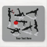 Exercise Figures (personalized) Mouse Pad