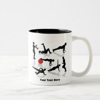 Exercise Figures (personalized) Two-Tone Coffee Mug
