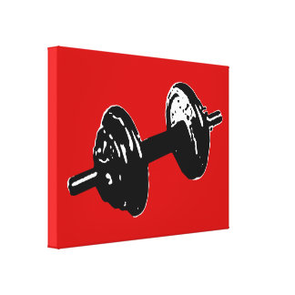 exercise . fitness. gym stretched canvas prints
