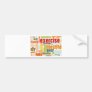 Exercise Fitness Lifestyle Car Bumper Sticker