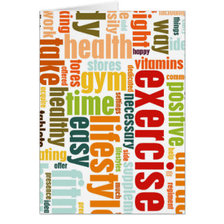 Exercise Fitness Lifestyle Card