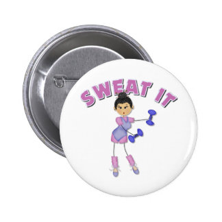 Exercise Gift For Women Pinback Button
