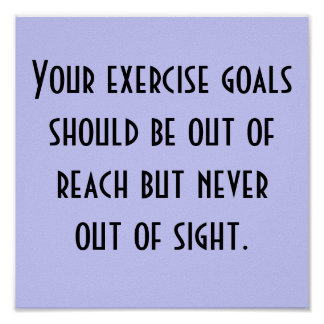 Exercise Goals Posters