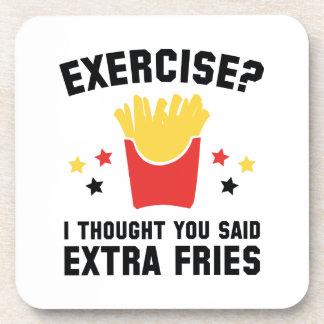 Exercise? I Thought You Said Extra Fries Coaster
