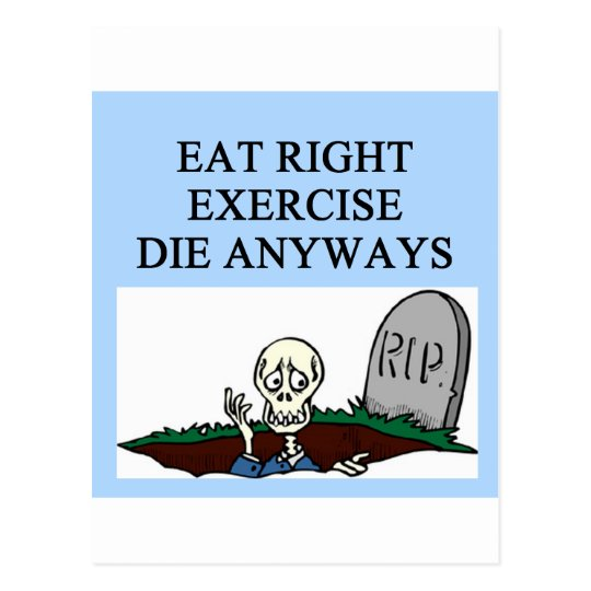exercise joke postcard